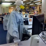 Fred working the Circulation Desk